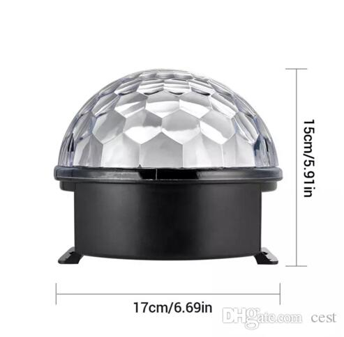 2017 MiNi LED Remote Control Small Magic Ball AC110-240V 3W Voice Control Rotating Colorful KTV Flash Stage Light