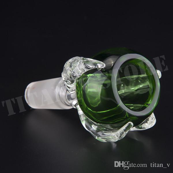 Les bols en verre Dragon Claw supportent les herbes sèches et le joint mâle vendent également des conduites d'eau en verre pour bol
