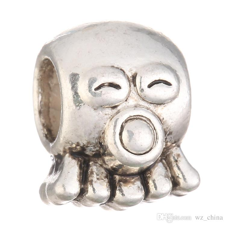 Silver Charm Beads Balls Pendants for DIY Women Men Necklaces New Fashion Jewlery Bracelets Bangles #10 Antigas Mask Loose Bead