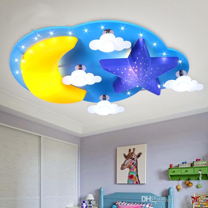 Led childrens room bedroom ceiling lamp warm personality minimalist led childrens room bedroom ceiling lamp warm personality minimalist cartoon star moon cloud baby boy girl room ceilling light ceilling light ceiling lamp aloadofball