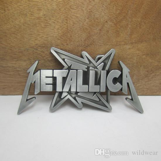 4d8ecd6d60b BuckleHome Fashion Metallica Belt Buckle Music Belt Buckle With Pewter  Finish And Gun Black Finish FP 01976 2 Seat Belt Buckle Rock And Revival  From ...