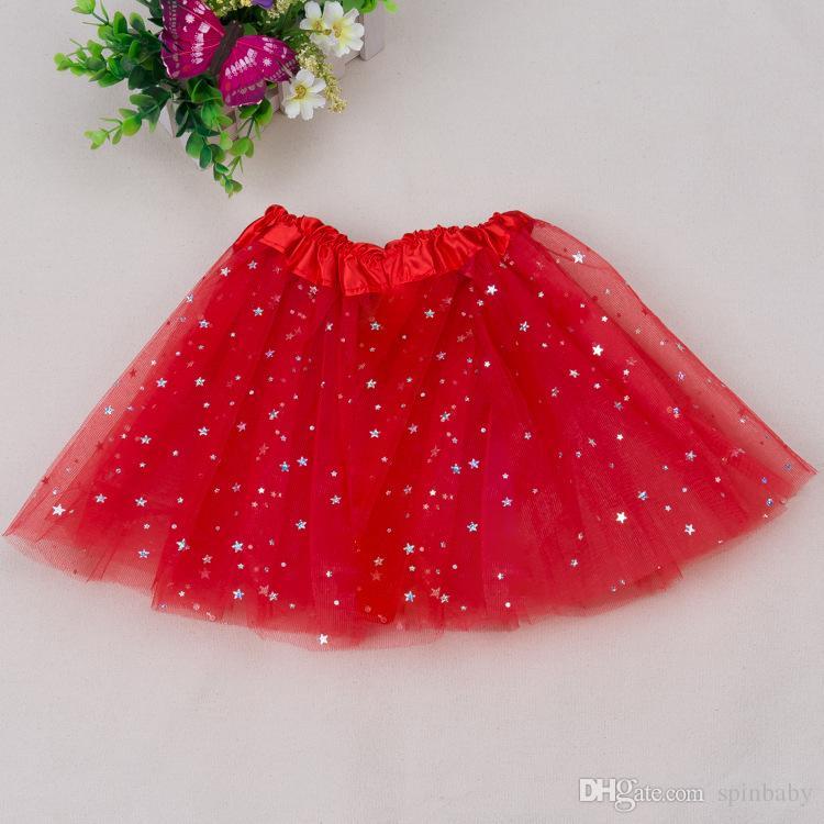 Hot Sale Girls Sparkle Glitter Sequins Stars Dance Ballet Tulle Tutu Skirt Princess Dress Tutu Dress