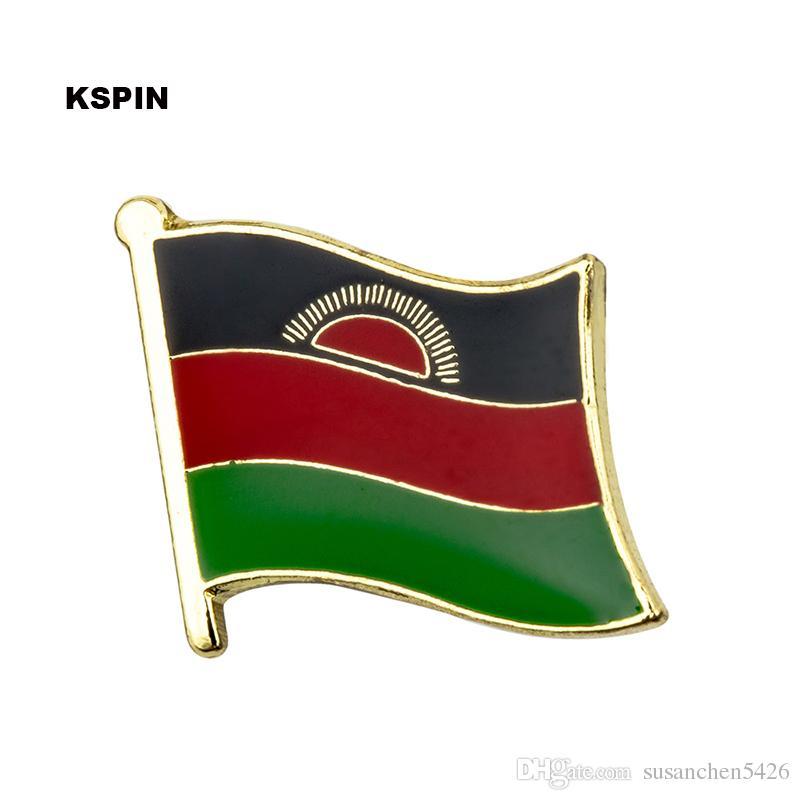 Spedizione gratuita in metallo del distintivo della bandiera del Ruanda KS-0108