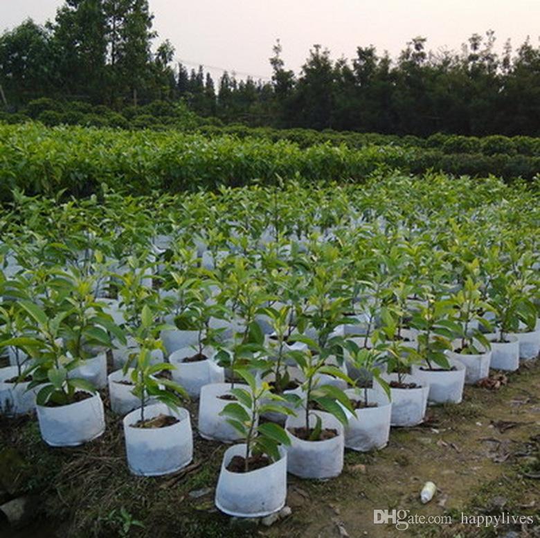 Planting Borse Round Vasi in tessuto Plant Pouch Root Container Grow Bag Vaso di aerazione Container New Peat Pots Borsa traspirante Plant