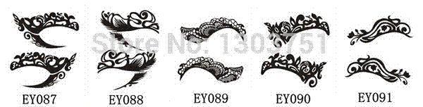 Stylish Eye Art Tattoos Temporary Eyeliner Stickers For Female Diy