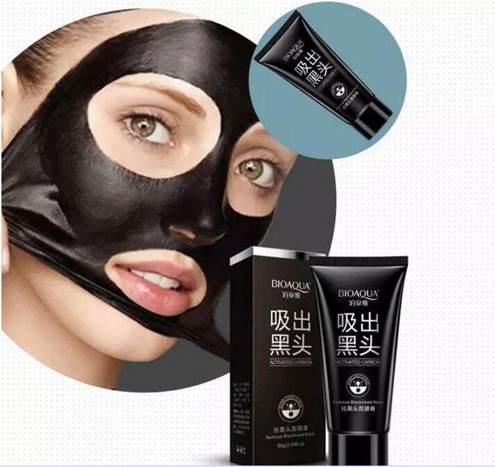 BIOAQUA espinilla negro Máscara facial Máscara negra Máscara facial Nariz Removedor de la espinilla Peeling Peel Off Cabeza negra Tratamientos para el acné DHL GRATIS