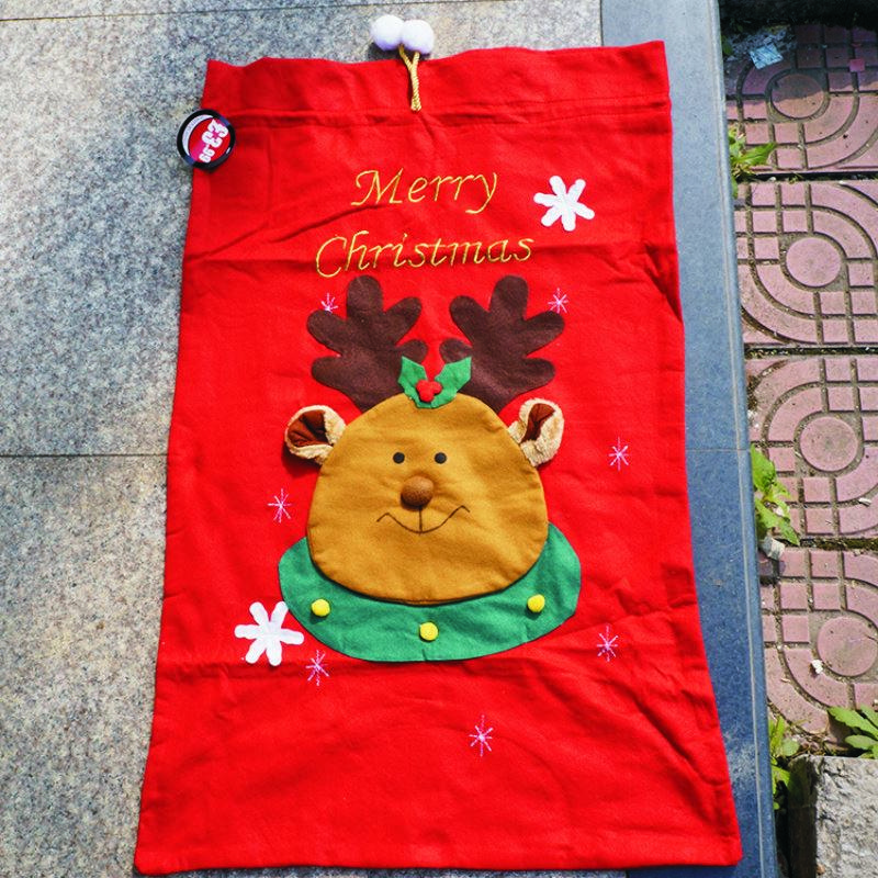 92*63cm Large Christmas Santa Sack Felt Bag Drawstring,Cloth ...