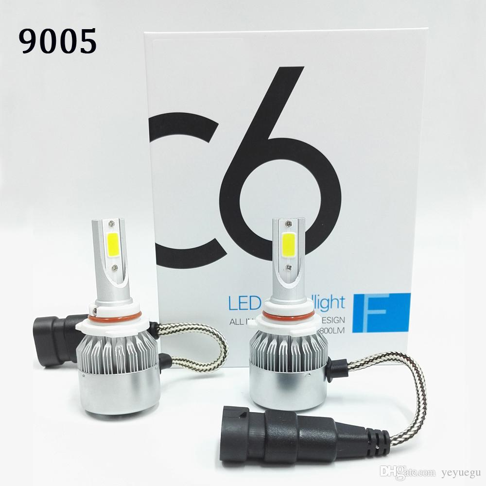 C6 2pcs Car Headlights 72W 7600LM Led Light Bulbs H1 H3 H7 9005 9006 H11 H4 H13 9004 9007 Automobiles Headlamp 6000K Fog Lamps