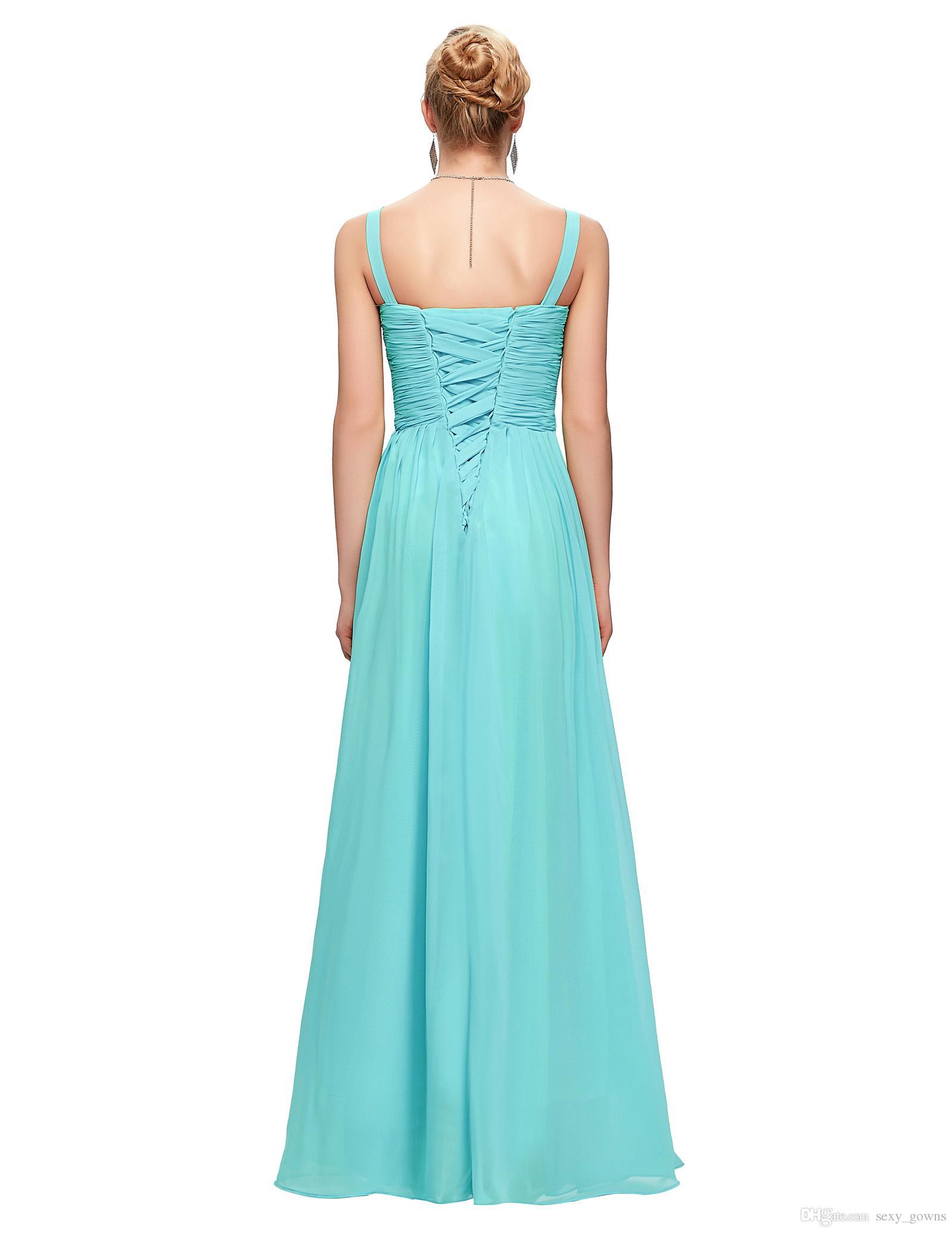 Cheap Aqua Blue Bridesmaid Dresses Blush Pink Red Purple Mint Green ...