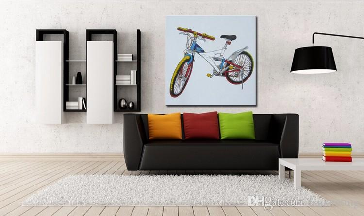 Paint Kit Oil Painting Bike Trip Hand Painted Modern oil painting on canvas wall art picture for room decoration No frame