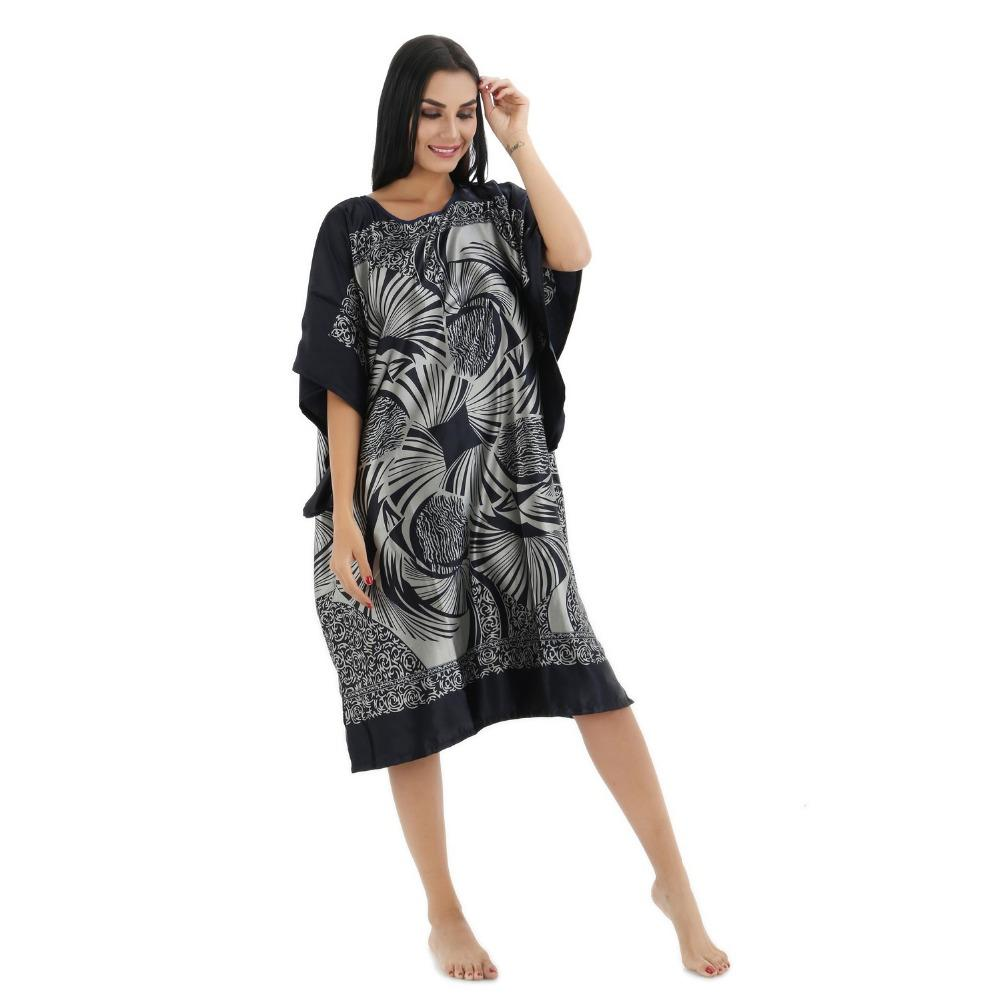 b134e7c965a 2019 Wholesale Plus Size Black Women S Summer Lounge Robe Lady New Sexy  Home Dress Rayon Nightgown Large Loose Sleepwear Bathrobe Gown From Roberr