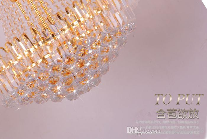 Cheap New Hot Royal Empire Golden Crystal chandelier Light French Crystal Ceiling Pendant Lights DHL Fast Shipping