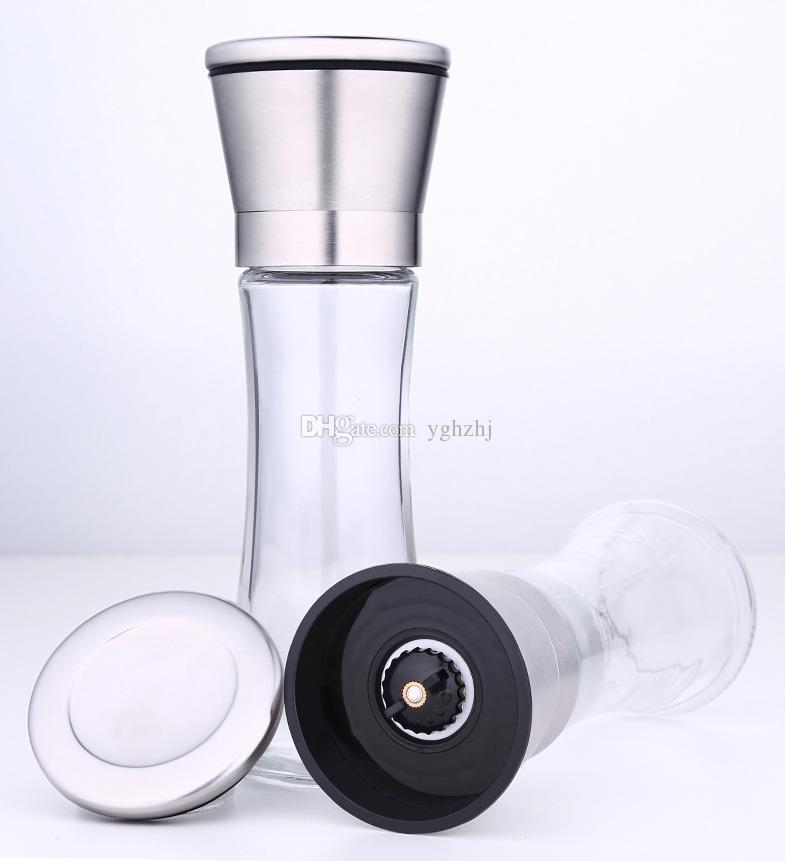 Stainless steel pepper grinder,Pepper grinding machine,Hand movement black pepper grinding bottle,Seasoning bottle