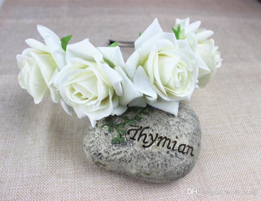 Adulto hecho a mano flor grande Hairband moda tela Rose guirnalda guirnalda mujeres Hairbands boda novia accesorios para el cabello