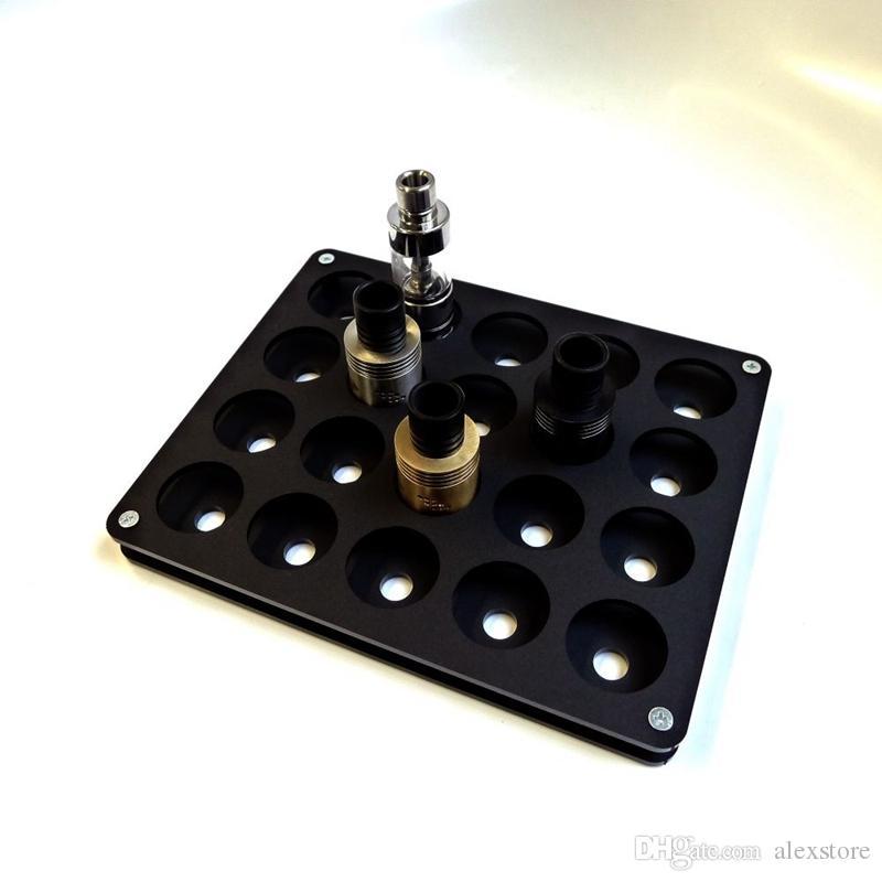 Espositore sigarette in acrilico e trasparente supporto ripiano in nero supporto espositore scatola display batteria ecig atomizzatore rda 510 drip tip
