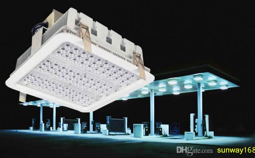 dosel prueba de explosión ilumina el radiador de aletas 100W 150W 180W LED de luz de la bahía para la gasolinera enciende la lámpara de almacén 5 años de garantía