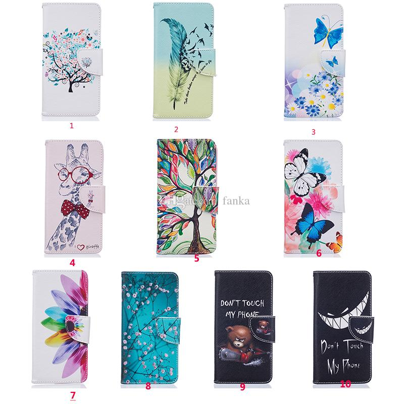2016 New Arrival Leather Case For LG K7/K8 K10 LEON LS770 LS775 NEXUS 5X MOTOG4 Printing Flip Stand Wallet Cover Rainbow Tree Photo Frame