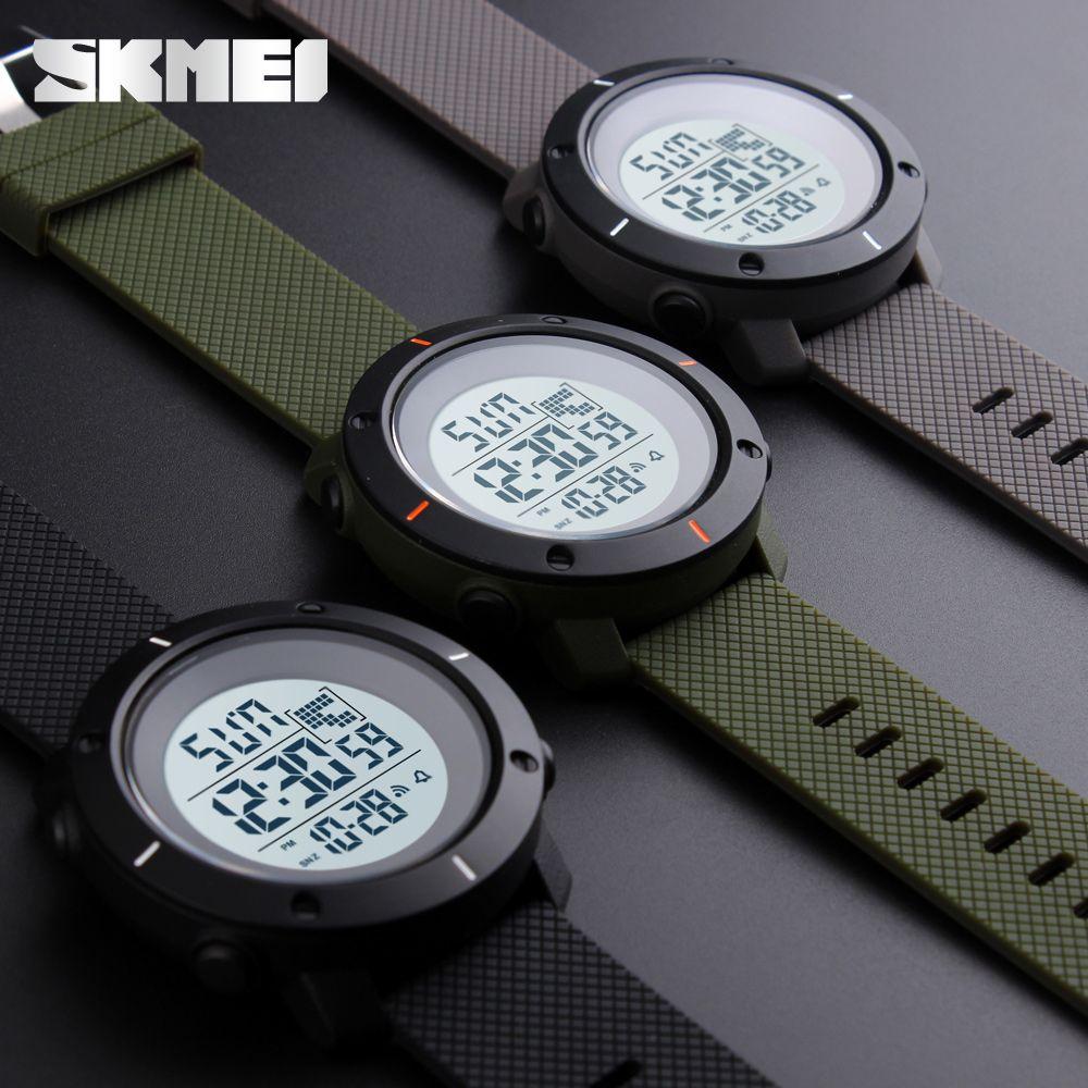 9fd00b5fa82 Compre SKMEI Marca Esporte Relógio Digital Homens Moda À Prova D  Água  Multifuncional Relógio Militar LED Relógios Digitais Ao Ar Livre Relógio De  Pulso ...