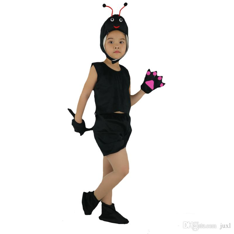 2018 Moda Bambini Bambini Breve Animal Ant Costume Fase Perfromance Vestiti Cosplay Halloween Birthday Fancy Dress Decoration