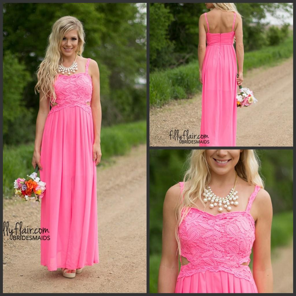 2017 summer fuchsia gorgeous long country bridesmaid dresses cheap 2017 summer fuchsia gorgeous long country bridesmaid dresses cheap cutaway side chiffon long backless bridesmaids wedding party gowns 1239 short lace ombrellifo Choice Image