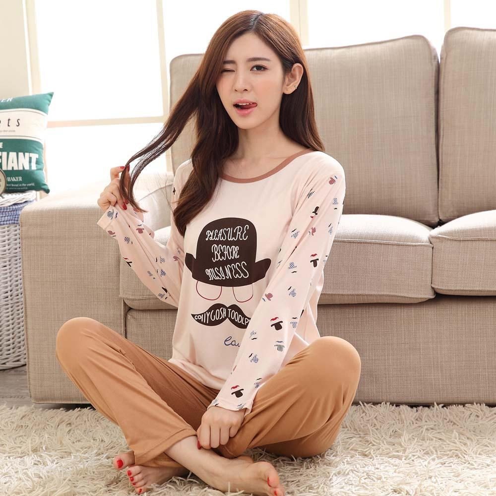 2019 Wholesale New Cute Cartoon Pajama Sets For Women Long Sleeve Pijama  Pajamas Pyjama Femme Sleepwear Girls Nightwear Womens Clothing PJ1 From  Ario 041f04d4b