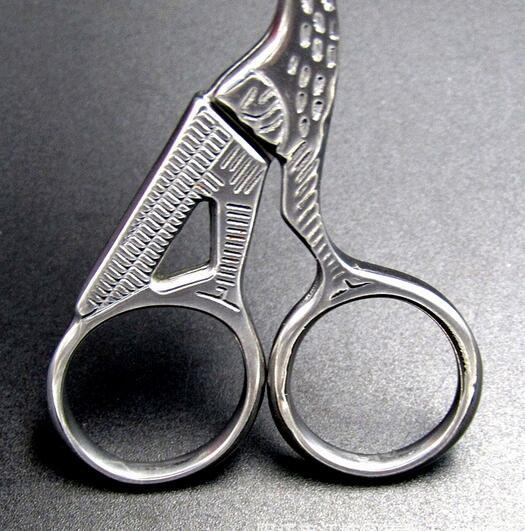 Silver Stork Sewing Scissors Trimming Dressmaking Shears Cross-stitch Carbon Steel Tailor Scissor Sewing Embroidery Fabric costura