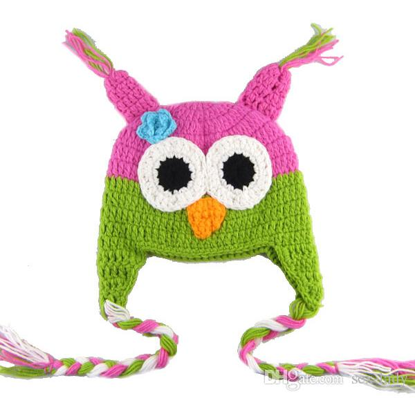 Toddler Owl Ear Flap Crochet Hat Children Handmade Crochet OWL Beanie Hat Handmade OWL Beanie Kids Hand Knitted Hat