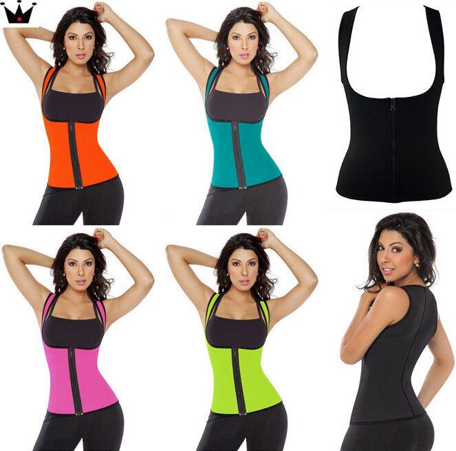 691b6cc10c153 2019 Waist Training Corsets Neoprene Hot Shapers Body Shaper Slimming Vest Workout  Waist Trainer Cincher Sport Gym Running Loss Weight Shapewear From ...