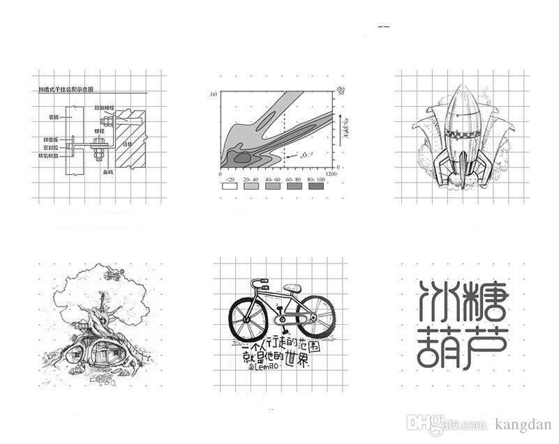 Cuaderno De Papel Kraft Cuadriculado Diseño De Dibujo Dibujo Animado Libro De Papel Bocetos De Cuadernos De Dibujo Arte De La Pintura Libro