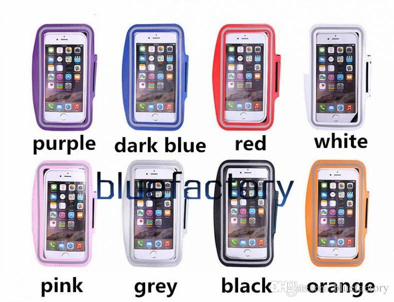 iphone x 8 7 sport in esecuzione bracciale caso cassa del supporto allenamento antistatico impermeabile copertura del sacchetto del telefono iphone 7 8 plus 6 s samsung s6 s6