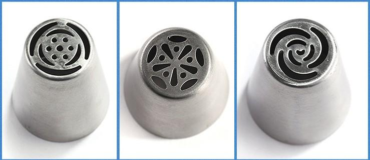 Metal Stainless Steel Cutters Professional Cake Decorators Russian Pastry Nozzles Piping Tips for the Kitchen Baking