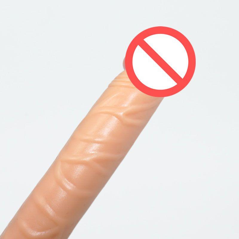 Silicon Dildo 14.5 * 2.4CM Con Strong Sucker Mini Anal Penis w / Succión Cup Realistic Small Dick Butt Plug Para Principiantes