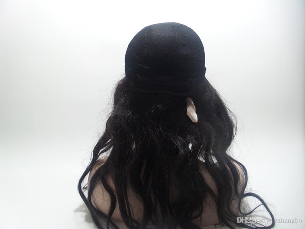 Parrucche piene del merletto Densità di seta 150% Bob Glueless Vergine Malese Bob Capelli ondulati Capelli corti Bob Parrucche piene del merletto Parte Parrucca con i capelli del bambino Kabell