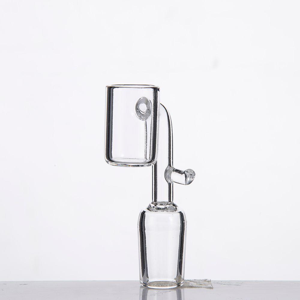 Quarz Ebanger Nagel mit Haken Domeless Quarz Banger Enail mit klaren männlichen weiblichen Joint für 20mm Coil Heater