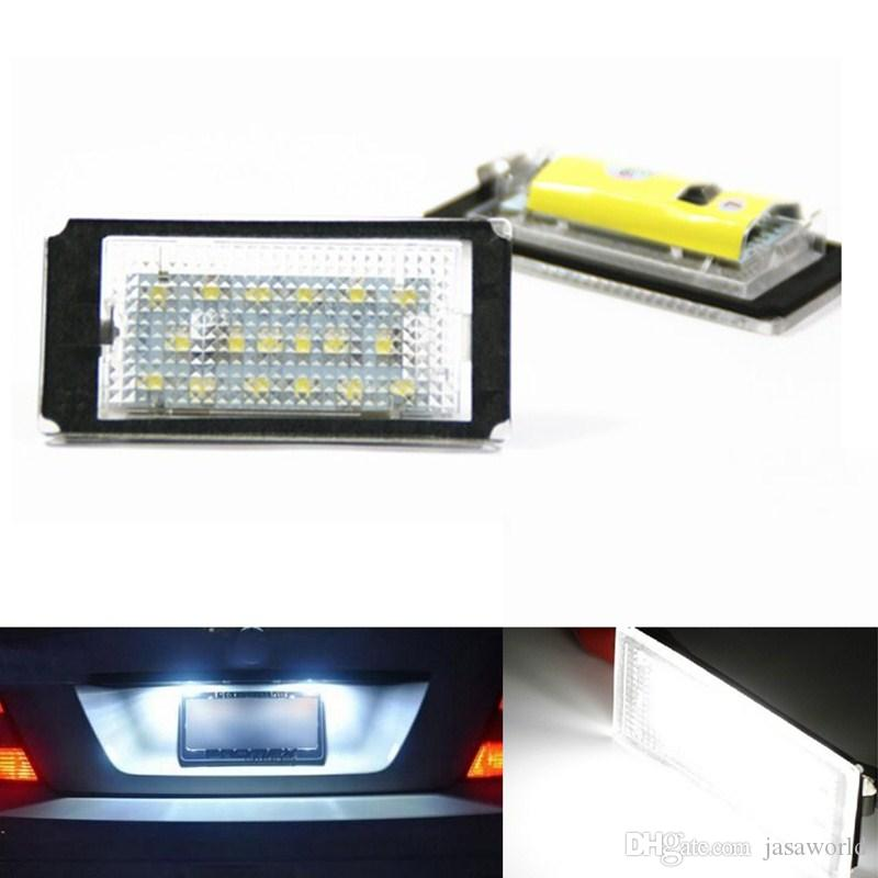 2x Error Free 18 3528 SMD Canbus LED License Plate Light Lamps Auto Bulbs Car Light fit for BMW E46 2D Coupe pre-facelift E46 M3
