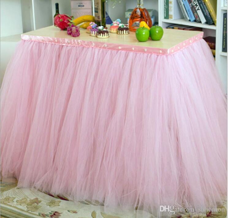 Tutu Table Decoration for Weddings Invitation Birthdays Baby Bridal Showers Parties Tulle Table Skirt WQ19