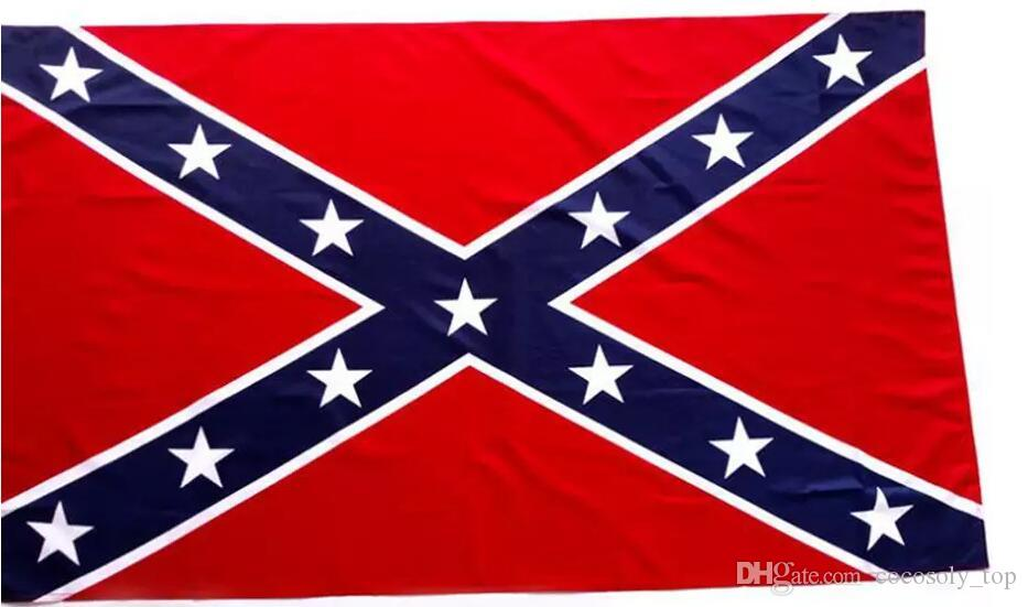 La verdad sobre las banderas confederadas de batalla Dos lados impresos Bandera Confederado Rebelde Guerra civil Bandera América Banderas nacionales de poliéster