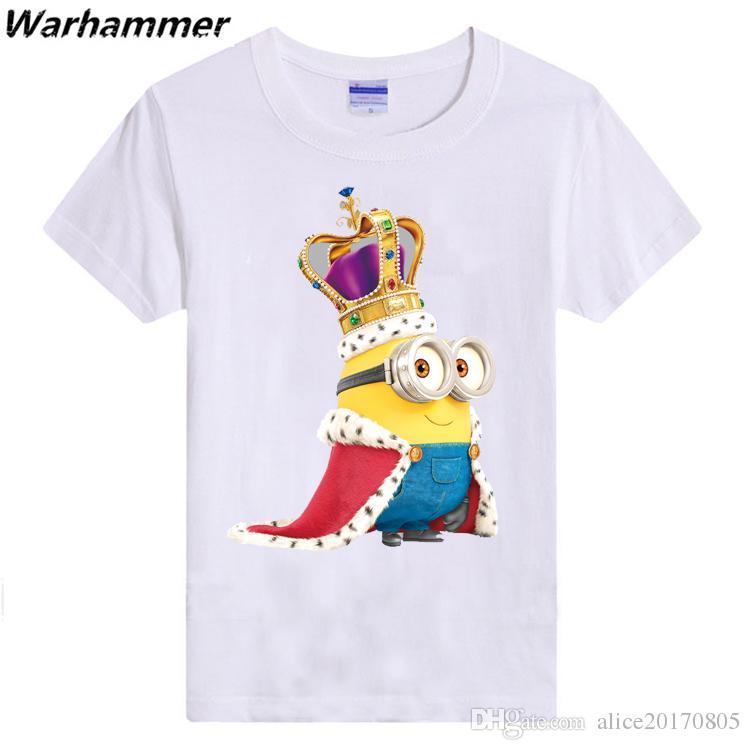 Funny Minions Banana T shirt Men Lovely 3D Printed Brand Cotton Pattern O-neck Short Sleeved Men T shirts Fashion Minions Customized DIY Tee