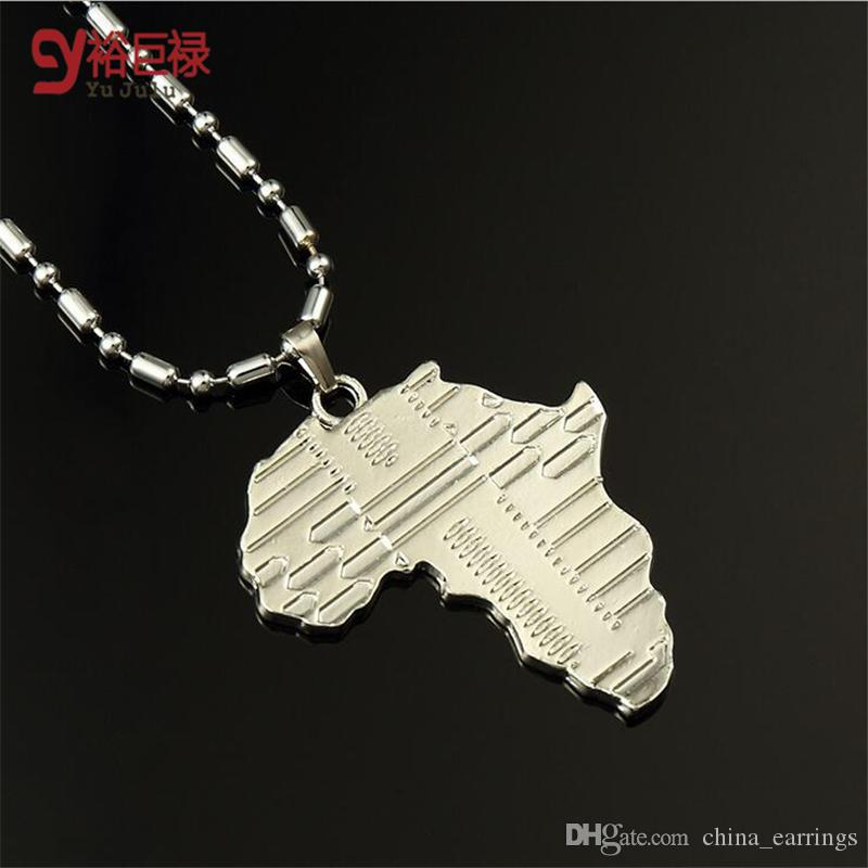 Wholesale Ship From Us U Africa Pendant Kgp Stamp Platinumk - Real map us in africa