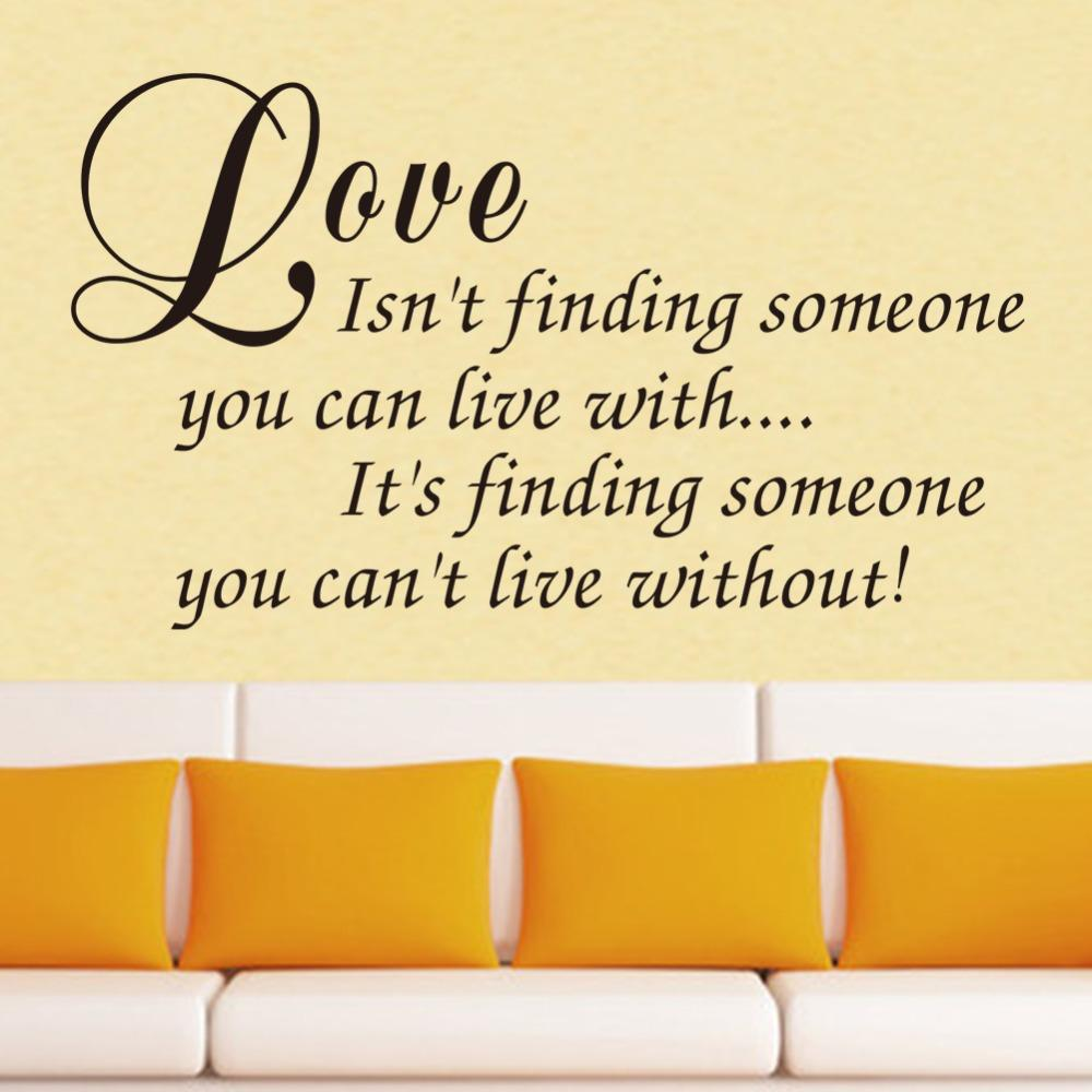 Love Isn\'T Finding Quote Wall Decal Removable Waterproofing Wall ...