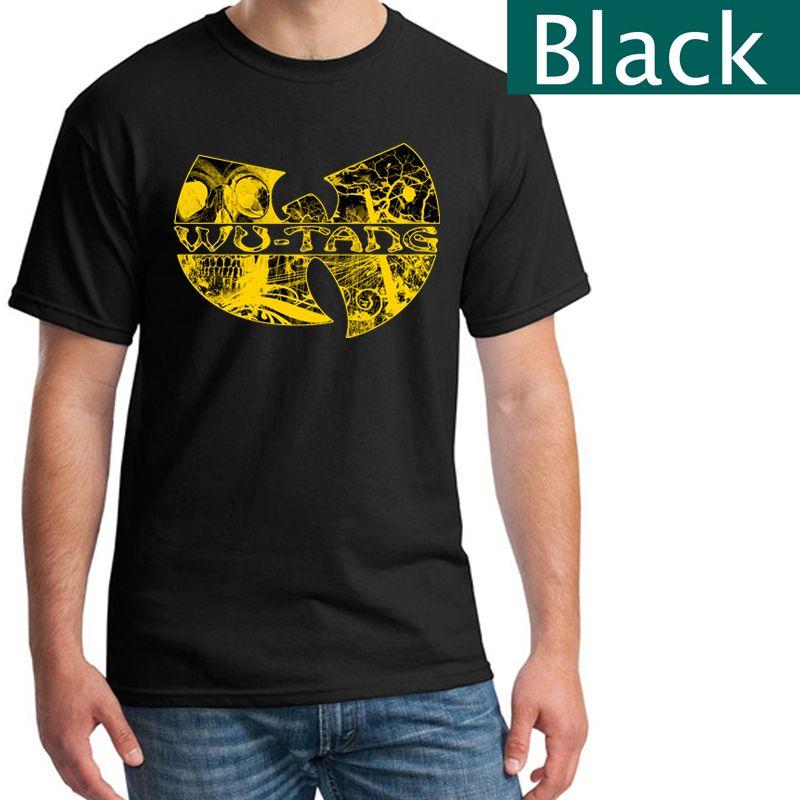 df2e99e7 Music Theme Rock Wu Tang Clan T Shirts Black T Shirt Men's T-Shirt ...