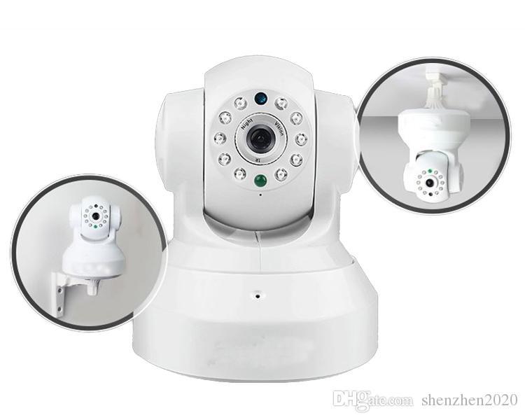 Wireless IP-Kamera WIFI-Webcam-Nachtsichtgerät BIS ZU 10M 10 LED-IR-Dual-Audio-Pan / Tilt-Unterstützung IE S61