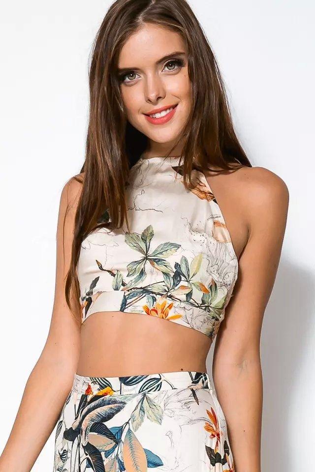 Plaj Elbise Tatil Elbiseler Kadın Kırpma Üst Midi Etek Seti Yaz tatil Plaj Seksi Etekler Trendy Kadınlar Için Iki Adet Elbiseler ...