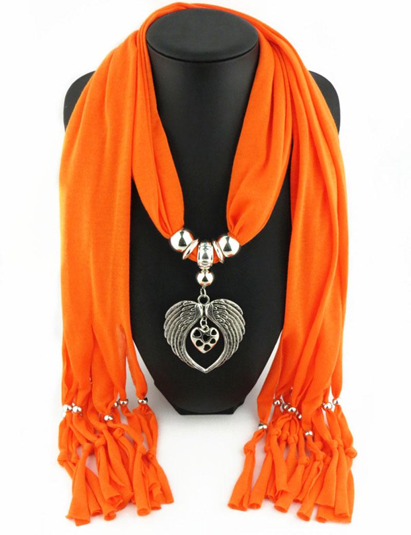 Новые дешевые мода женщины День Святого Валентина шарф прямой завод ювелирные изделия кисточки шарфы женщины Ангел крыло шарфы Шаль