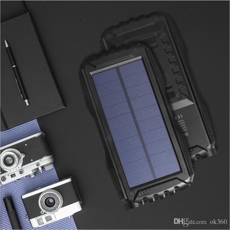Resalte los bancos impermeables de la energía solar del banco de la energía solar 50000mAh nuevos para el cargador solar ligero a prueba de polvo del campo de la PC del teléfono celular