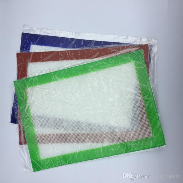 Almofadas de cera de silicone esteiras de erva seca 30 cm * 21.5 cm ou 27.5 cm * 25 cm quadrado food grade esteira de cozimento dabber folhas frascos dab ferramenta vaporizador