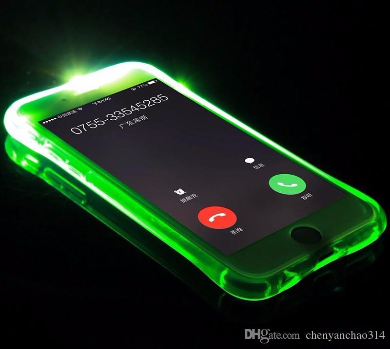 Nouveau Soft TPU LED Flash Light Up Cas Rappelez la couverture d'appel entrant pour Samsung Galaxy A3 A5 A7 A8 2016 J5 J7 Note 4 5 S6 S7 Edge