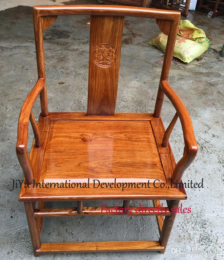 Antique mahogany leisure chair 100% African Red sandalwood armchairs home chair living room furniture luxury wood office siting chairs