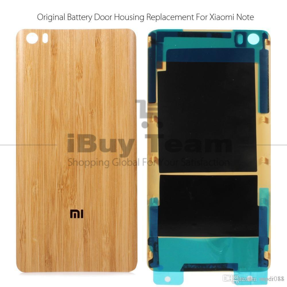3dc0449f3 Original Back Battery Cover for Xiaomi Mi Note Pro 5.7   Bangkok Bamboo  Housing Door Replacement Spare Parts