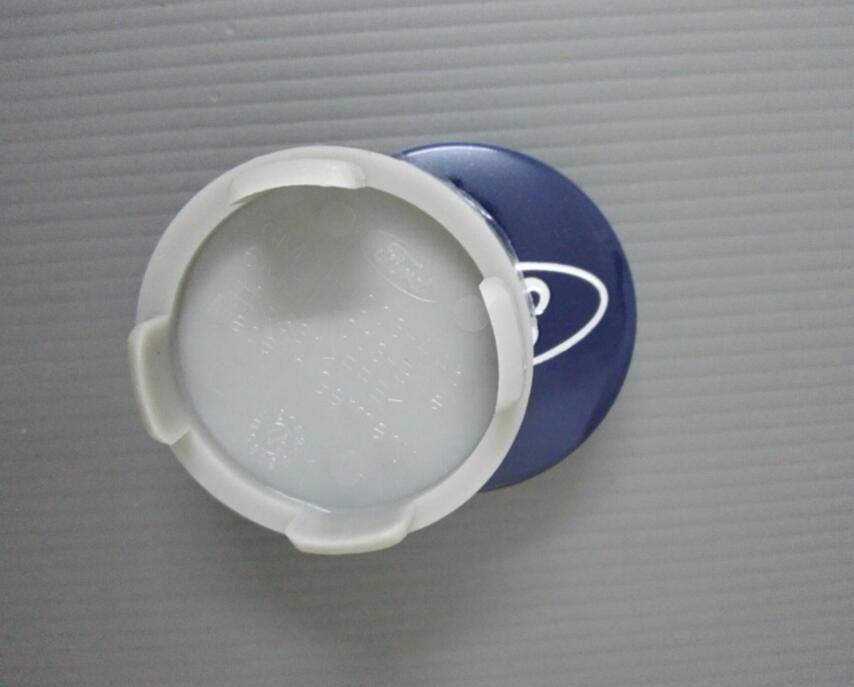 Car-styling 54mm Blue/Silver Car Wheel Hub Center Cover Caps Emblem Logo Badge For Ford Fiesta Focus Fusion Mondeo Escap 6M211003AA